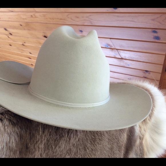 9df70904c RESISTOL cowboy HAT like NEW gray 7 5/8 5x BEAVER!